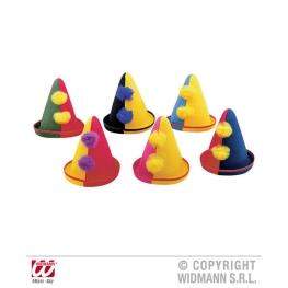 Sombrero Payaso Infantil Fieltro 6 colores surtido