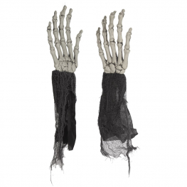 Set 2 manos esqueleto plástico