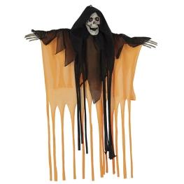 Fantasma calavera naranja neón