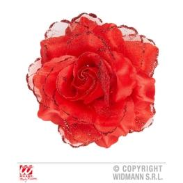 Flor Rosa C/Pinza Roja