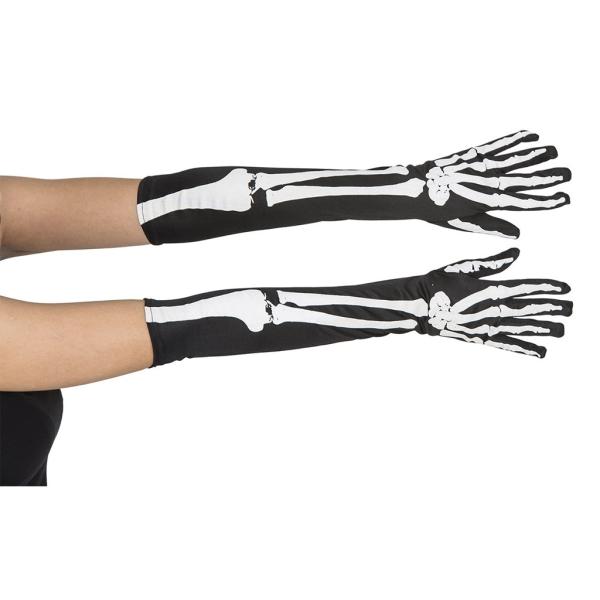 Guante largo esqueleto