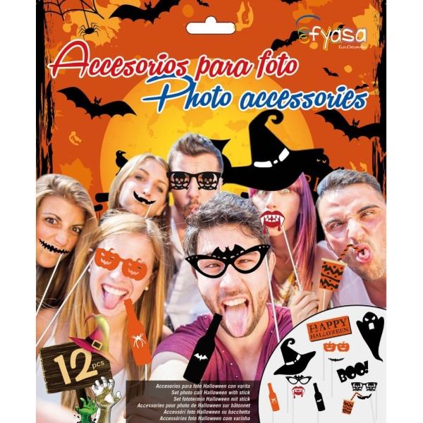 Accesorios para foto Halloween con varita 12 udes