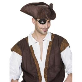 Sombrero pirata aspecto cuero