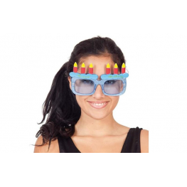 Gafas happy birthday con velas
