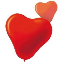 Globo corazón 28 rojo 100 udes. 33x36 cm
