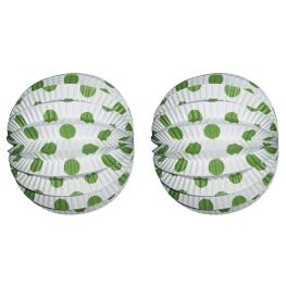 Farolillo 20 cm Blanco-verde