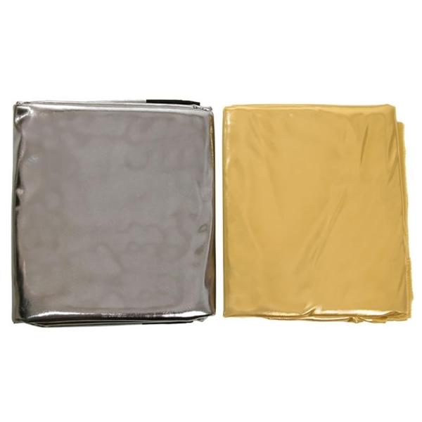 Tela lamé plata 1,10 m / paquete