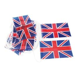 Tira bandera plástico Gran Bretaña 50 m