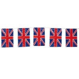 Tira bandera plástico Gran Bretaña 10 m