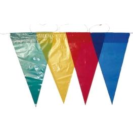 Tira bandera triangular plástico 50 m