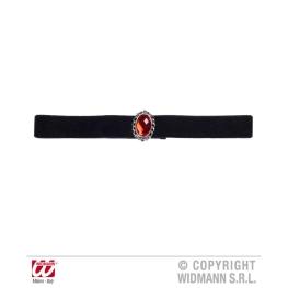Collar terciopelo negro