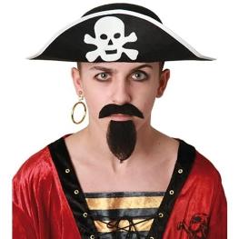 Sombrero pirata Adulto Talla única