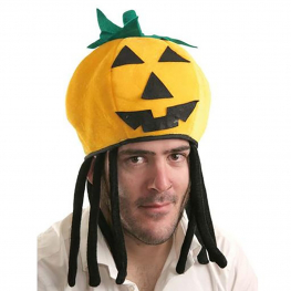 Sombrero reversible de tela en calabaza o araña