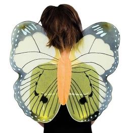 Alas mariposa en tono amarillo infantil
