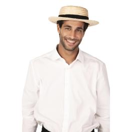 Sombrero canotier paja