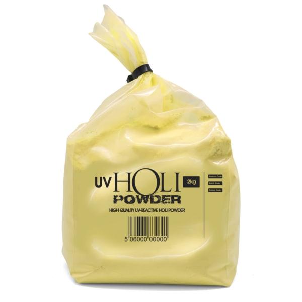 Polvos holi UV neón amarillo 2,2 kg