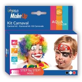 Kit carnaval 3 colores al agua 3 x 2 gr