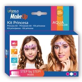 Kit princesa 3 colores al agua 3 x 2 gr