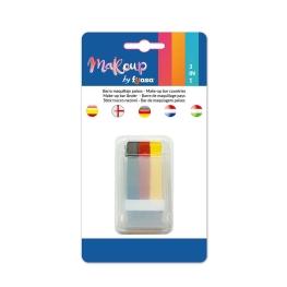 Maquillaje stick países 3x2,9 gr