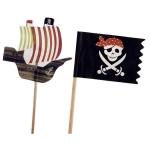 Pincho Barco y Bandera Pirata