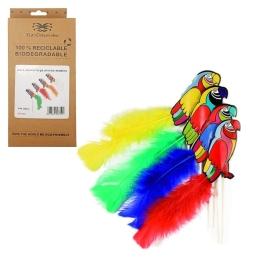 Paquete pinchos loros con pluma