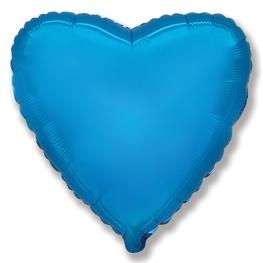 Globo corazón helio 46cm  azul