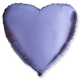 Globo corazón helio 46cm  lila