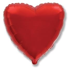 Globo corazón helio 46cm  rojo