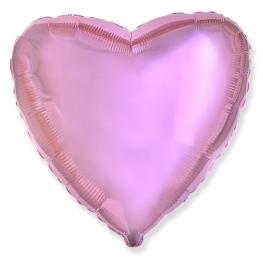 Globo corazón helio 46cm  rosa metálico