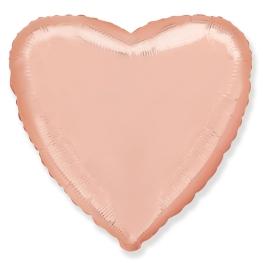 Globo corazón helio 46cm  rosa dorado