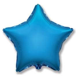 Globo estrella helio 46cm  azul