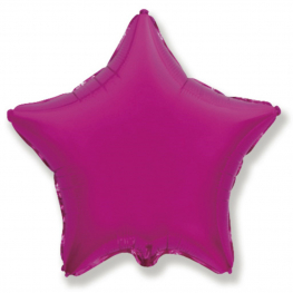 Globo estrella helio 46cm  fuxia