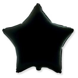 Globo estrella helio 46cm  negro