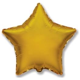 Globo estrella helio 46cm  oro
