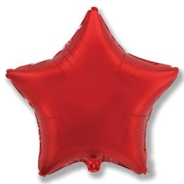 Globo estrella helio 46cm rojo