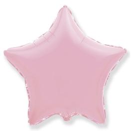 Globo estrella helio 46cm  rosa pastel