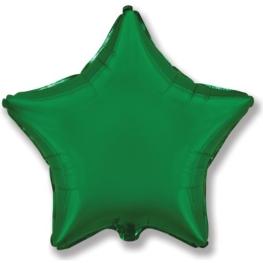 Globo estrella helio 46cm  verde