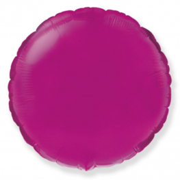 Globo redondo helio 46cm fuxia