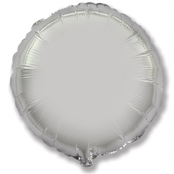 Globo redondo helio 46cm  plata