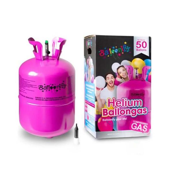 """Bombona helio 12"""" para 50 globos"""