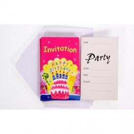 Invitaciones Happy Birthday 6uds