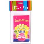 Invitaciones Happy Birthday 6uds