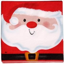 Servilleta Santa Clauss 33X33 CM 20 UDES