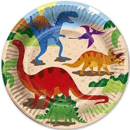 Plato dinosaurios 6 unidades
