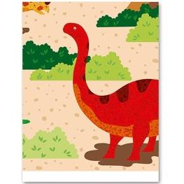 Mantel dinosaurios plegado 137x182cm