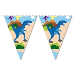 Tira bandera dinosaurios