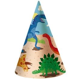 Sombrero dinosaurios 6 unidades