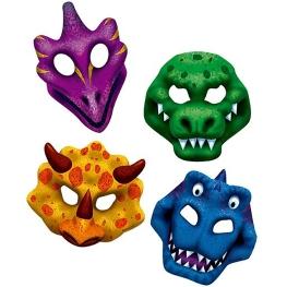 Máscara dinosaurios 4 unidades