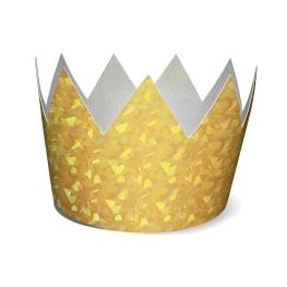 Corona oro holografica 6udes