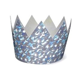 Corona plata holografica 6udes